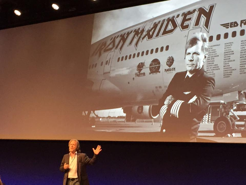 Iron Maiden's Bruce Dickinson shared lessons from his improbably eclectic career at SuccessConnect Berlin.