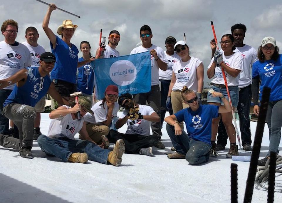 Working with UNICEF USA, student volunteers from State University of New York (SUNY) and City University of New York (CUNY) schools are spending the summer rebuiliding houses in Puerto Rico damaged by Hurricane Maria.