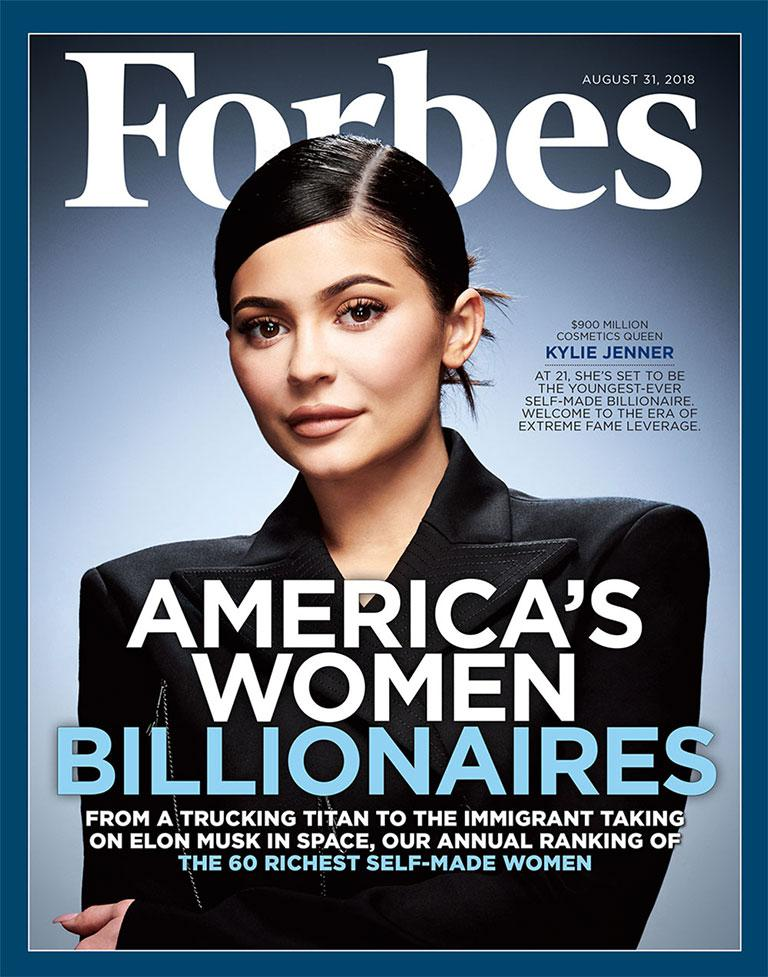 Jenner on the August 31, 2018 issue of Forbes