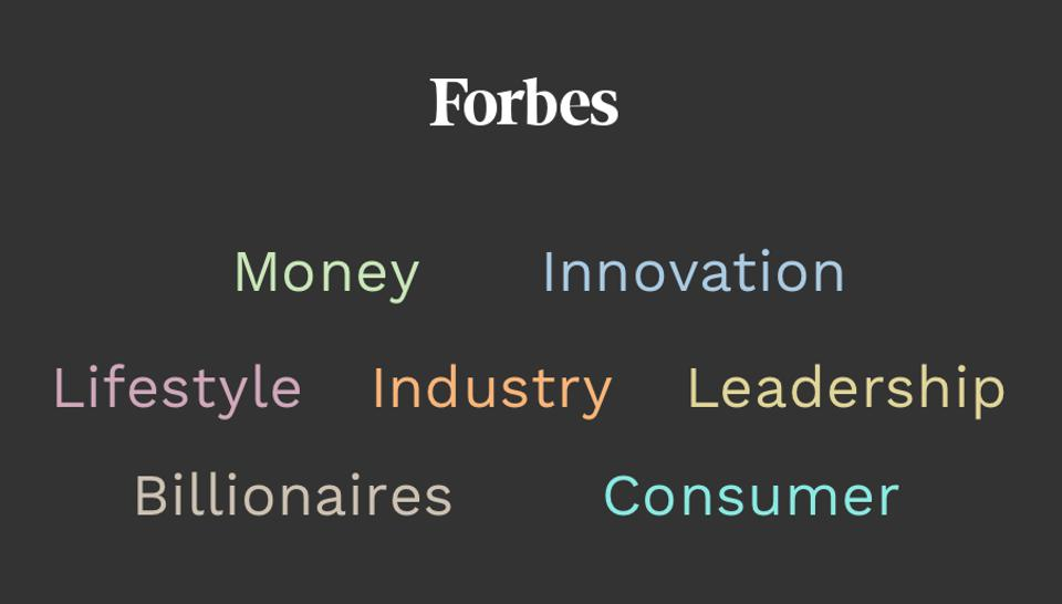 Forbes' new channels, July 2018