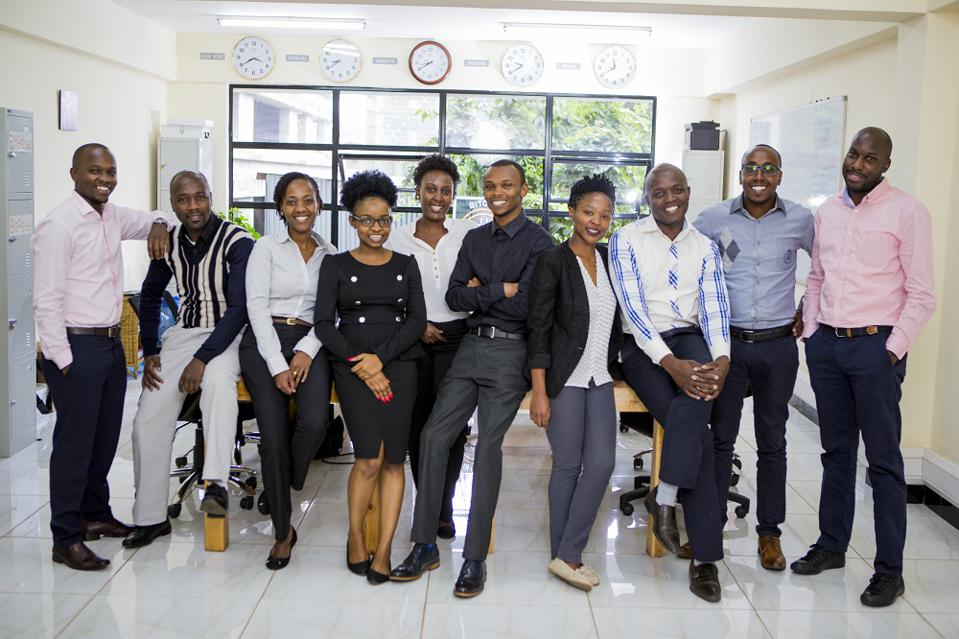 BitPesa's East Africa team in its Nairobi office.