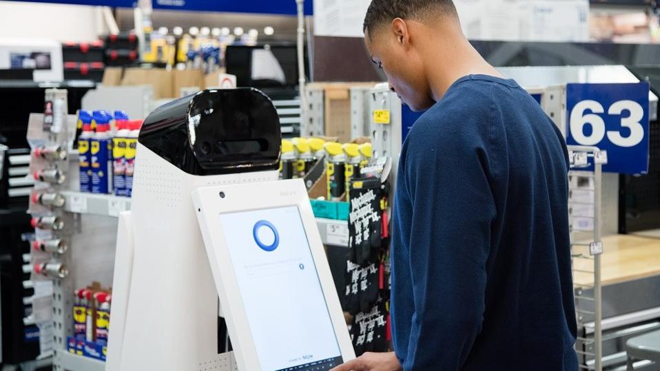 The LoweBot was able to answer basic questions and keep track of inventory in real time.