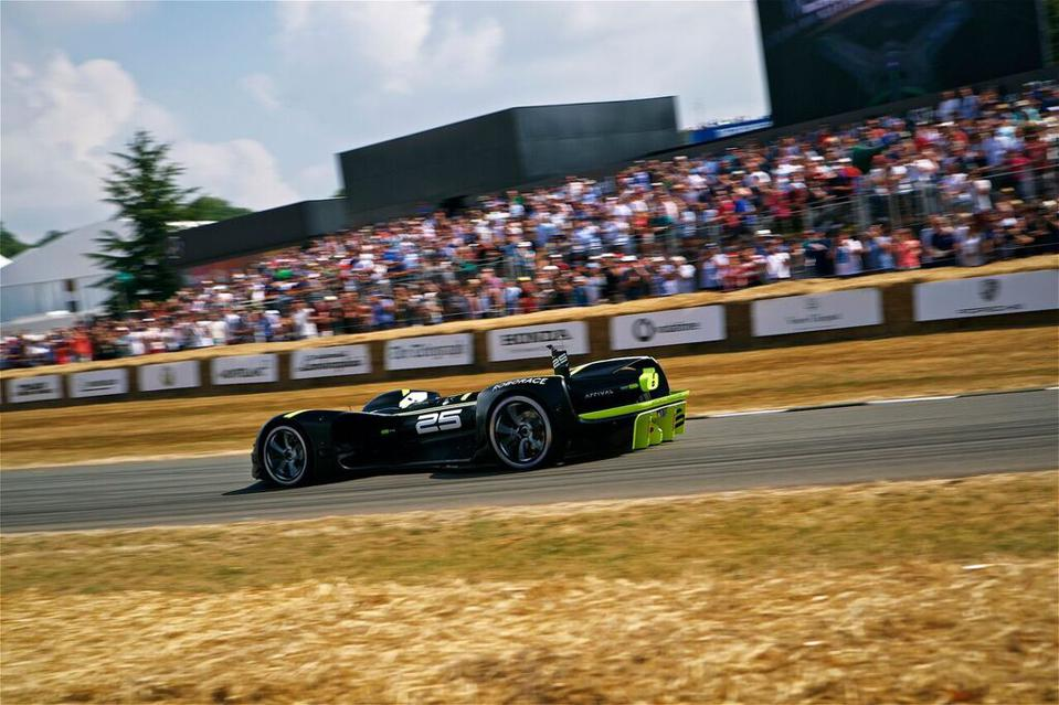 The Roborace Robocar sails to a historical finish at the Goodwood Festival of Speed.