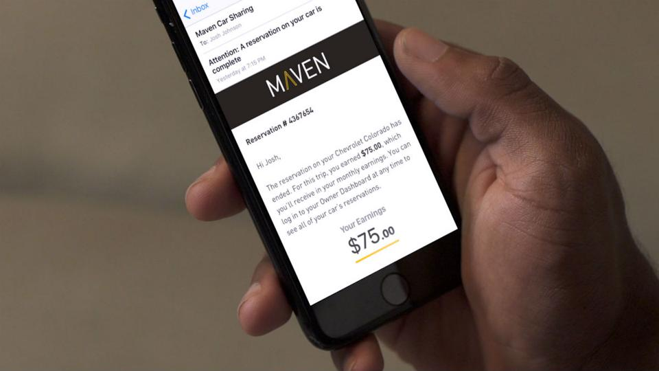 Maven Adds Peer-to-Peer Car Rental to Its Car-Sharing Platform.
