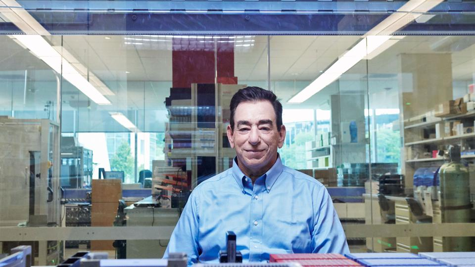 Regeneron's CEO Leonard Schleifer at the company's lab in Tarrytown, New York.