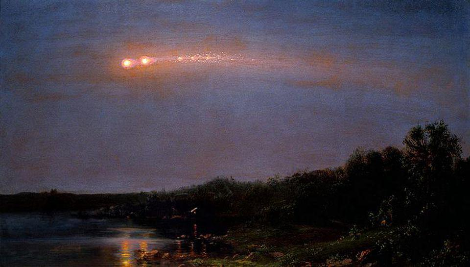 In 1860, a meteor grazed Earth, and produced a spectacularly luminous light display.
