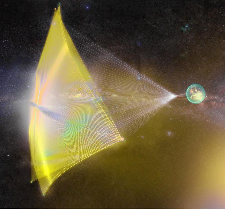 The laser sail concept, for a starchip-style starship, could take us interstellar.