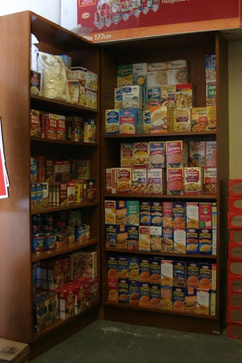 Administrative staff, teaching faculty, and Robles's classmates offered their support throughout the process leading up to the opening of the food pantry. College administration officials also designated a space on campus with several shelves for the