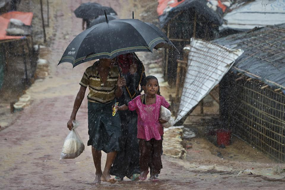 Monsoon rains threaten to worsen conditions in Cox's Bazar, Bangladesh, now home to more than 800,000 Rohingya refugees. UNICEF and partners are working to strengthen protections against landslides, flash floods, and waterborne disease.