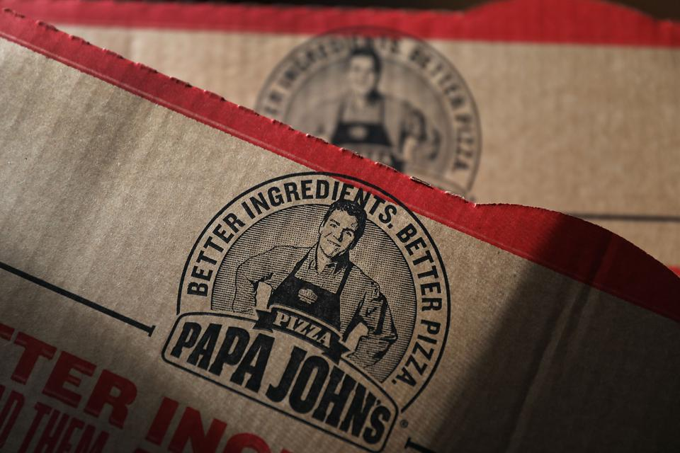 The former Papa John's logo, featuring company founder John Schnatter, who was ousted last summer.