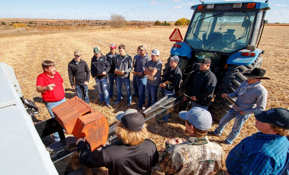 At No. 16 Nebraska College of Technical Agriculture, students work with heavy machinery in precision agriculture classes.