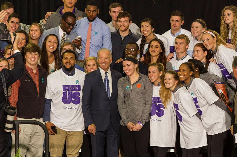 Vice President Joe Biden joins students at an It's On Us event.
