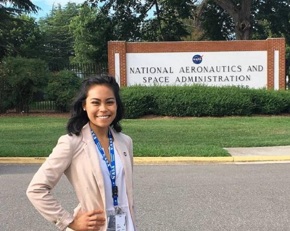 Angela was one of 304 students nationwide selected to participate in the NASA Community College Aerospace Scholars Program.