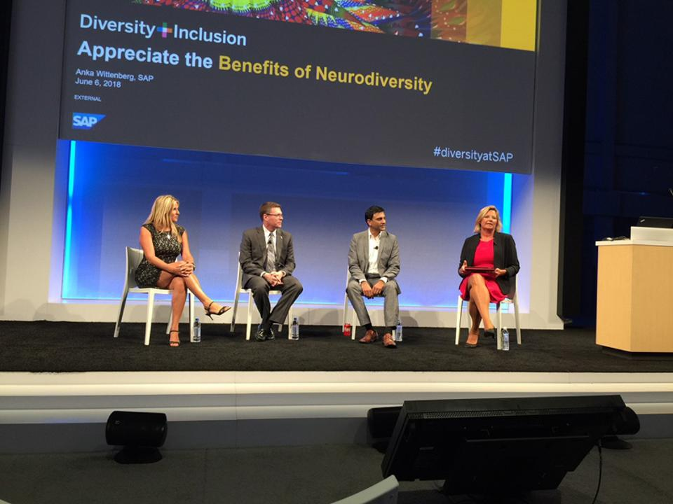 L to R: Megan Paterson, vice president of HR at Kinaxis, Mike Waldron, managing director of Inclusion and Diversity at American Airlines, Hiren Shukla, EY Americas Automation Center of Excellence Leader, Anka Wittenberg, formerly chief diversity and