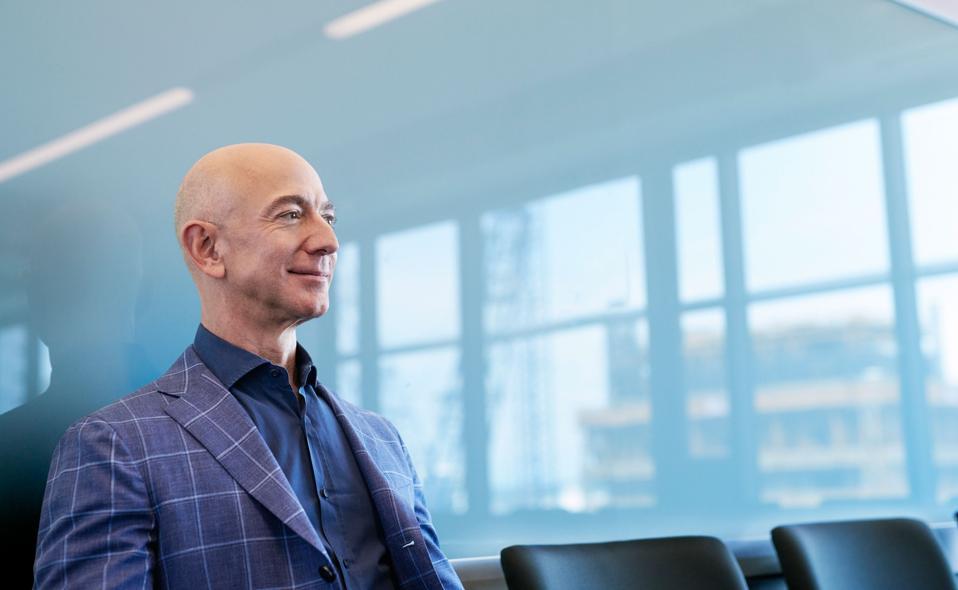 Jeff Bezos at his Seattle headquarters.