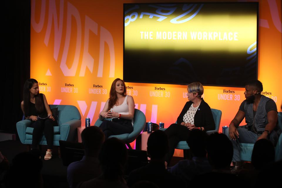 Irene joined Jennifer Marcou, general manager of Microsoft Marketing, Josh Wilson, founder and CEO of Wilson Worldwide Productions, and Forbes writer Parmy Olson onstage at the 30 Under 30 Europe Summit.