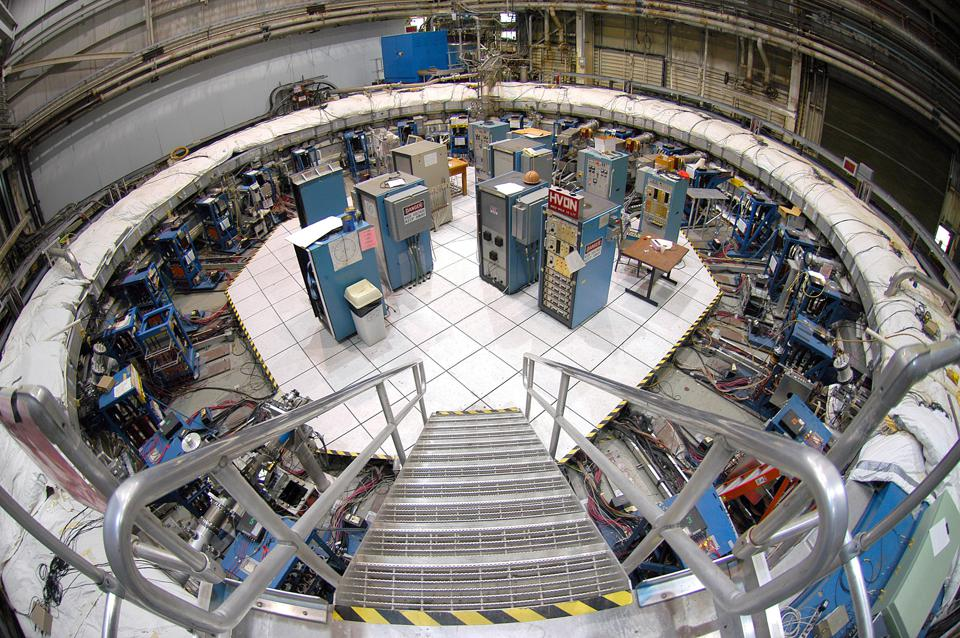 The Muon g-2 storage ring was originally built and located at Brookhaven.