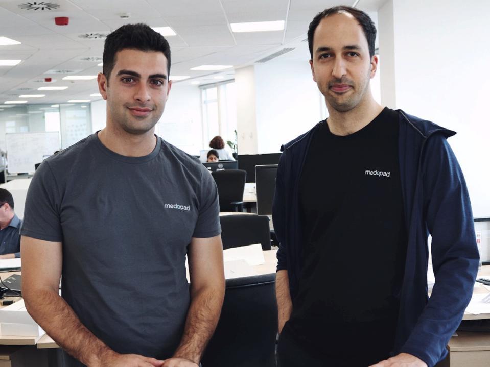Sherbit CEO Alex Senemar and Medopad CEO Dan Vahdat.