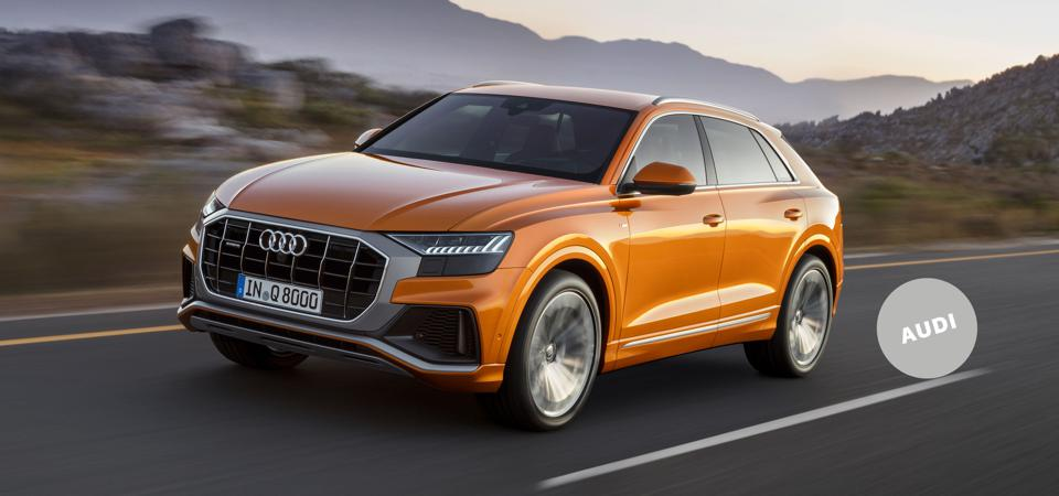 Ready for Takeoff: The Audi Q8 features a customizable virtual-cockpit instrument panel and a touchpad-controlled multimedia system.