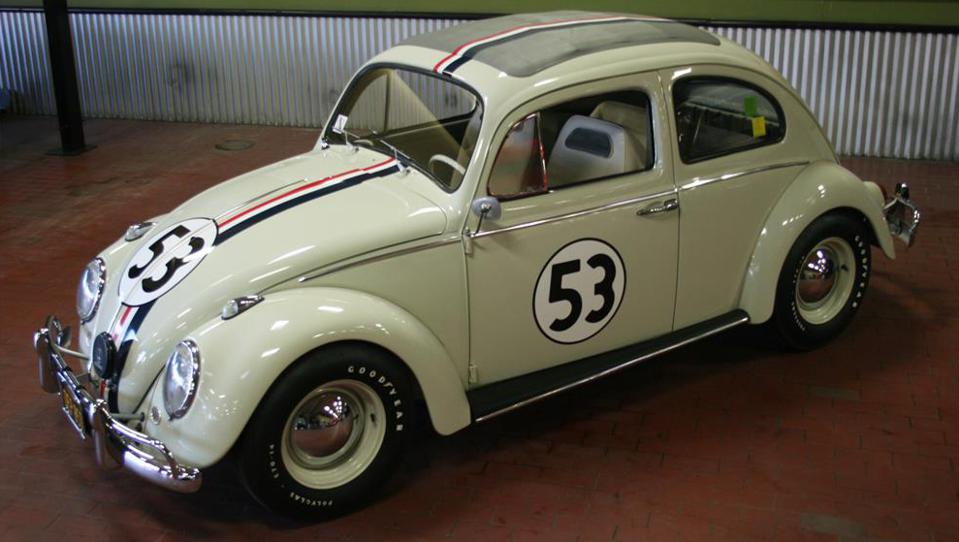 A 1963 Love Bug that starred in 'Herbie Goes to Monte Carlo.'
