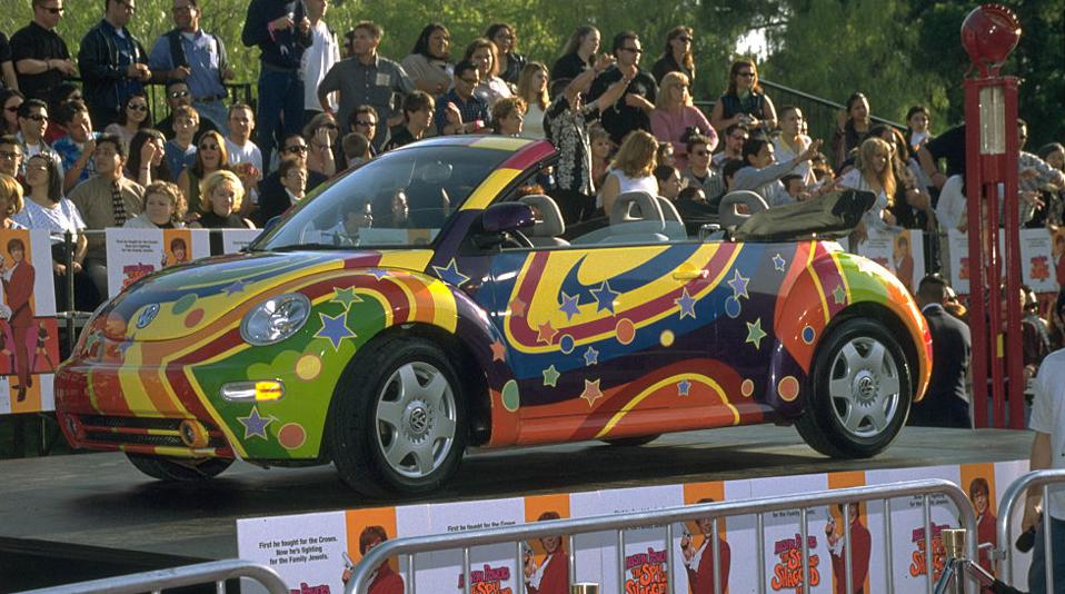 The New Beetle behaves at the premiere of 'Austin Powers: the Spy Who Shagged Me'