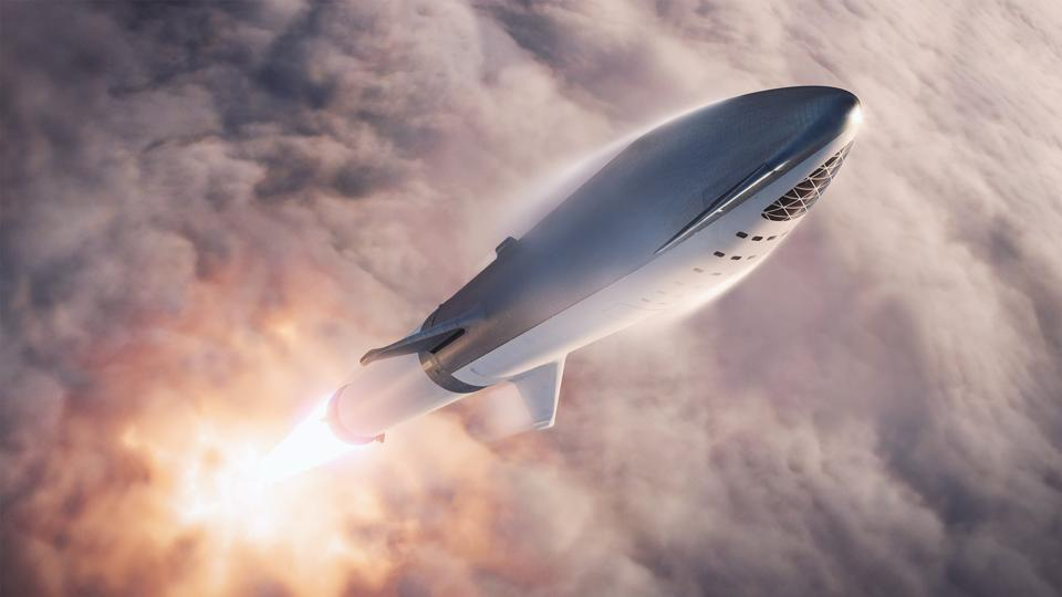 Artist's conception of BFR launch.