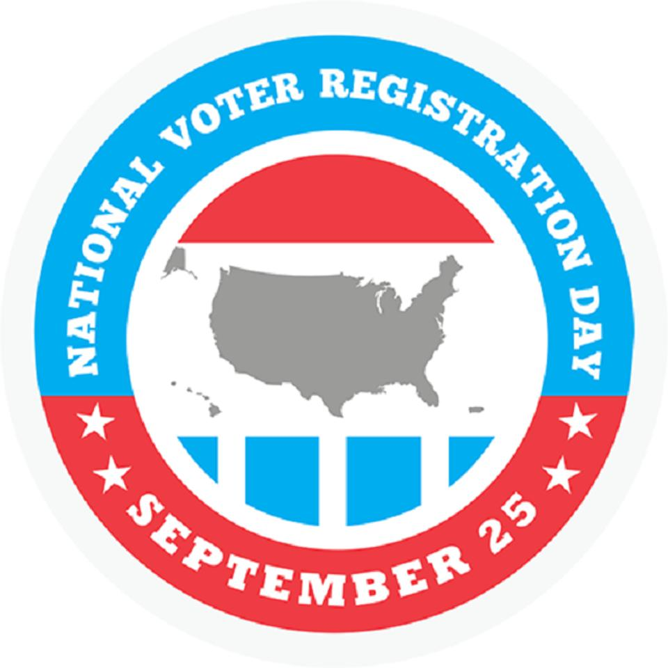 National Voter Registration Day 2018 is Tuesday, September 25.