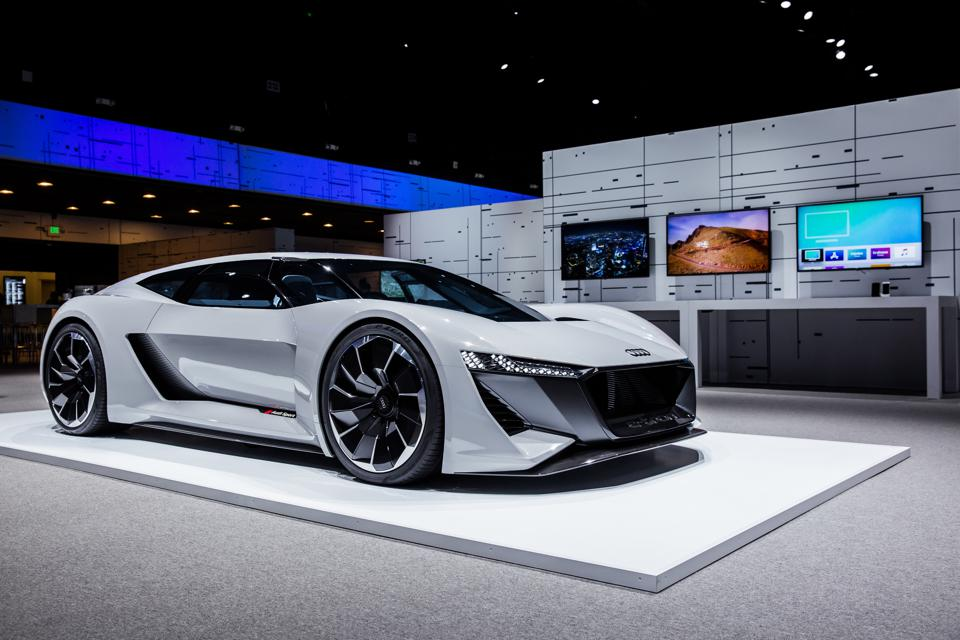 Audi's PB 18 e-tron can go from 0 to 60 mph in 2 seconds.