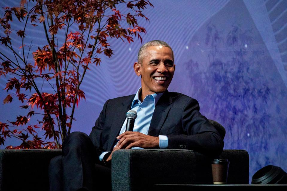 Barack Obama made the keynote speech at Norway's Oslo Business Forum.