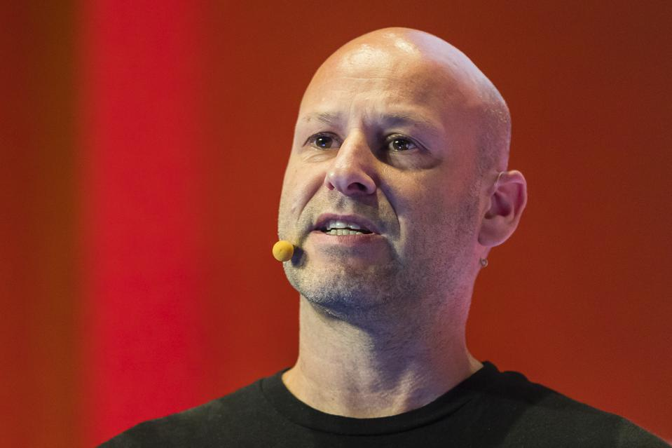Ethereum co-founder and CEO of ConsenSys Joe Lubin, speaking at the RISE 2018 conference.