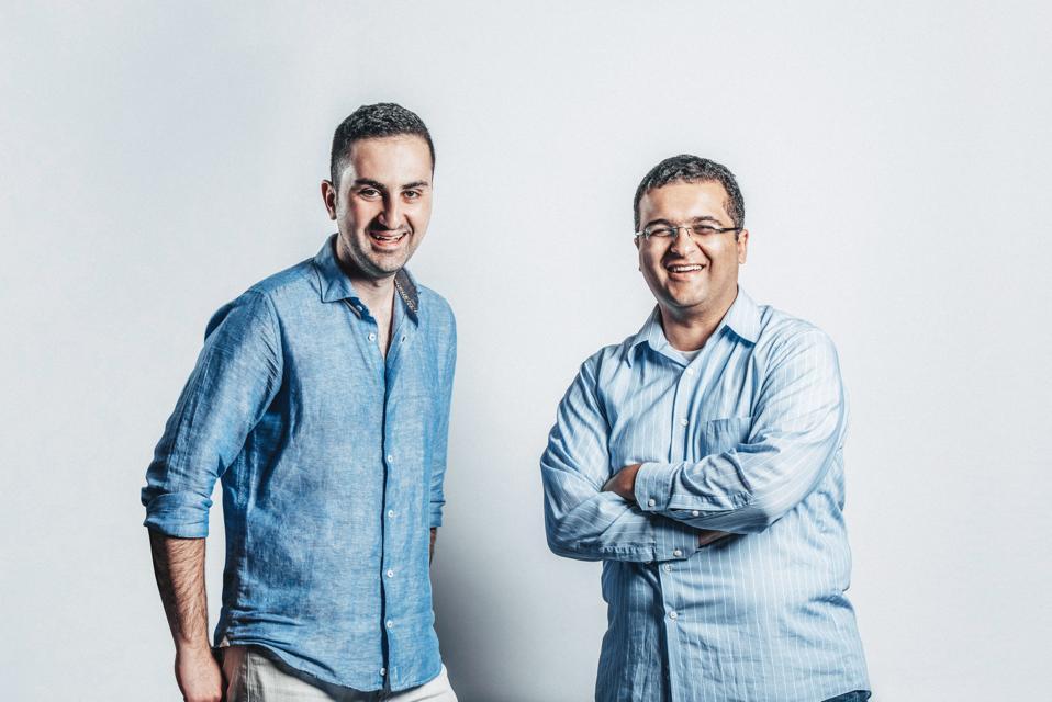 Aeva co-founders Soroush Salehian, left, and Mina Rezk met when they were both working on sensor systems for Apple's autonomous vehicle program.