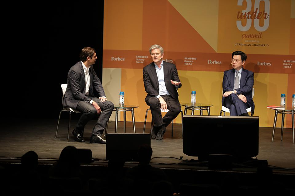 AOL founder Steve Case and Kai-Fu Lee, chairman and CEO of Sinovation Ventures, discuss the global tussle over innovation at the Forbes 30 Under 30 Summit in Boston.