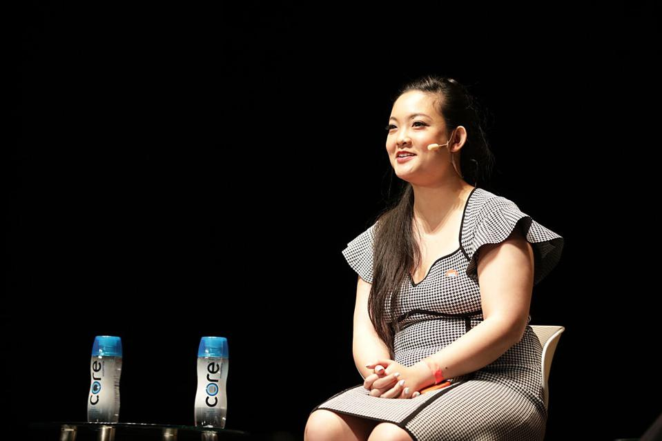 Rise founder and CEO Amanda Nguyen at the 2018 Forbes Under 30 Summit in Boston.