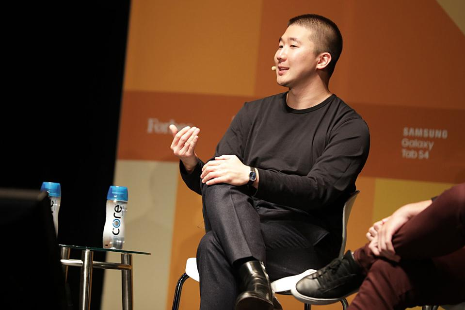 Airtable CEO Howie Liu talks about why his popular startup isn't for sale at Forbes 30 Under 30 in Boston (October 1, 2018).
