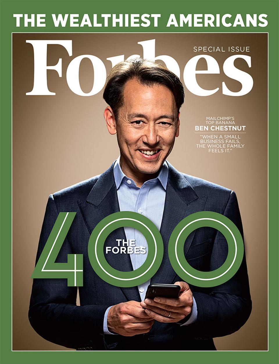 The October 31, 2018 issue of Forbes featuring MailChimp's Ben Chestnut.