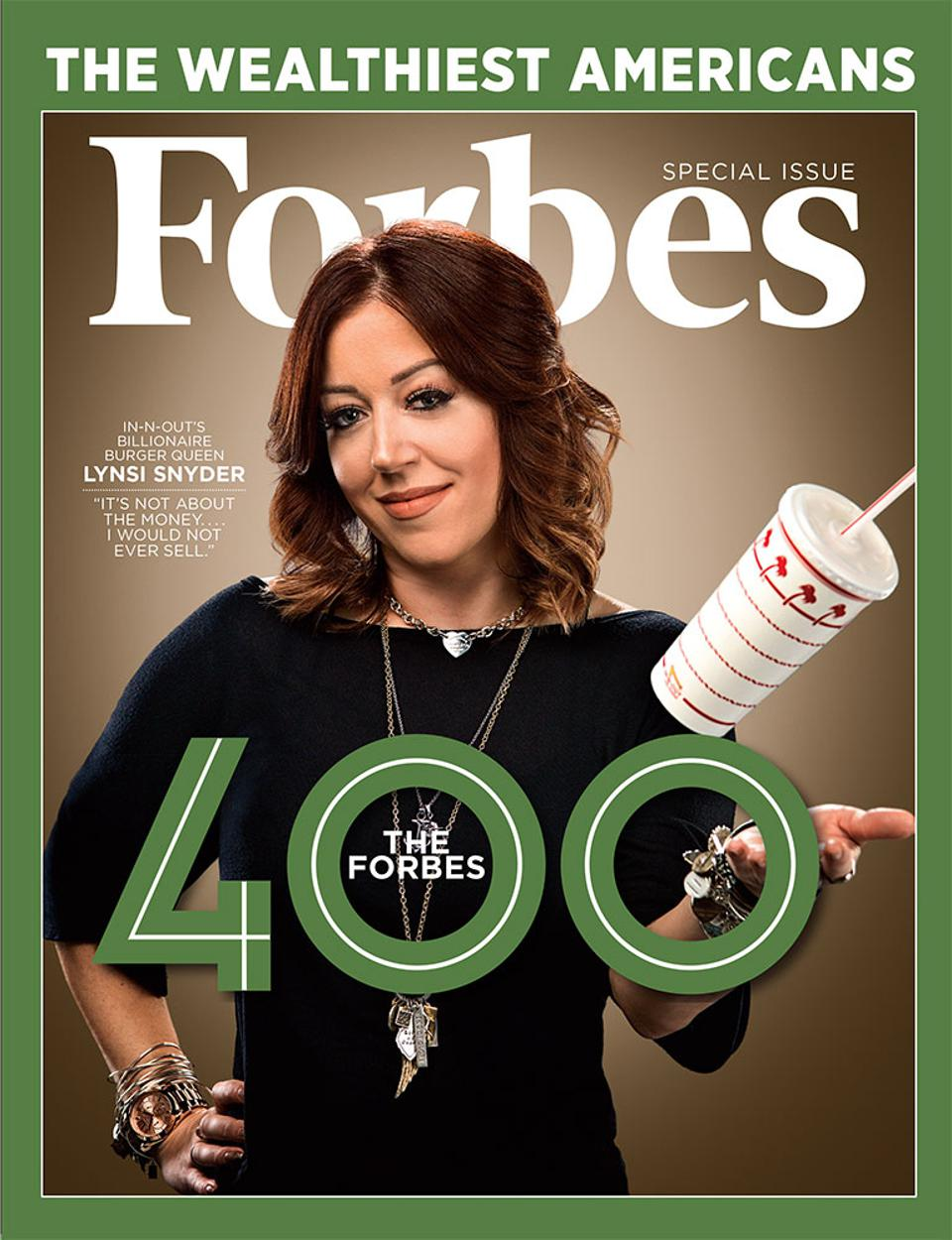The October 31, 2018 issue of Forbes featuring In-N-Out's Lynsi Snyder.