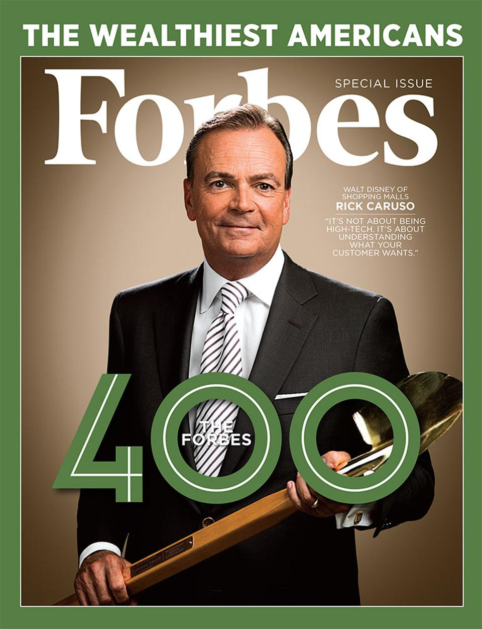 The October 31, 2018 issue of Forbes featuring Rick Caruso.