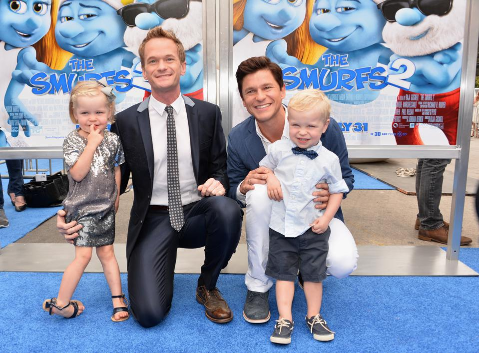 The cute clan attends the premiere of 'The Smurfs 2' in 2013.