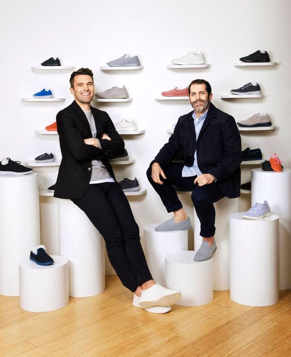 Allbirds cofounder Tim Brown and Joey Zwillinger