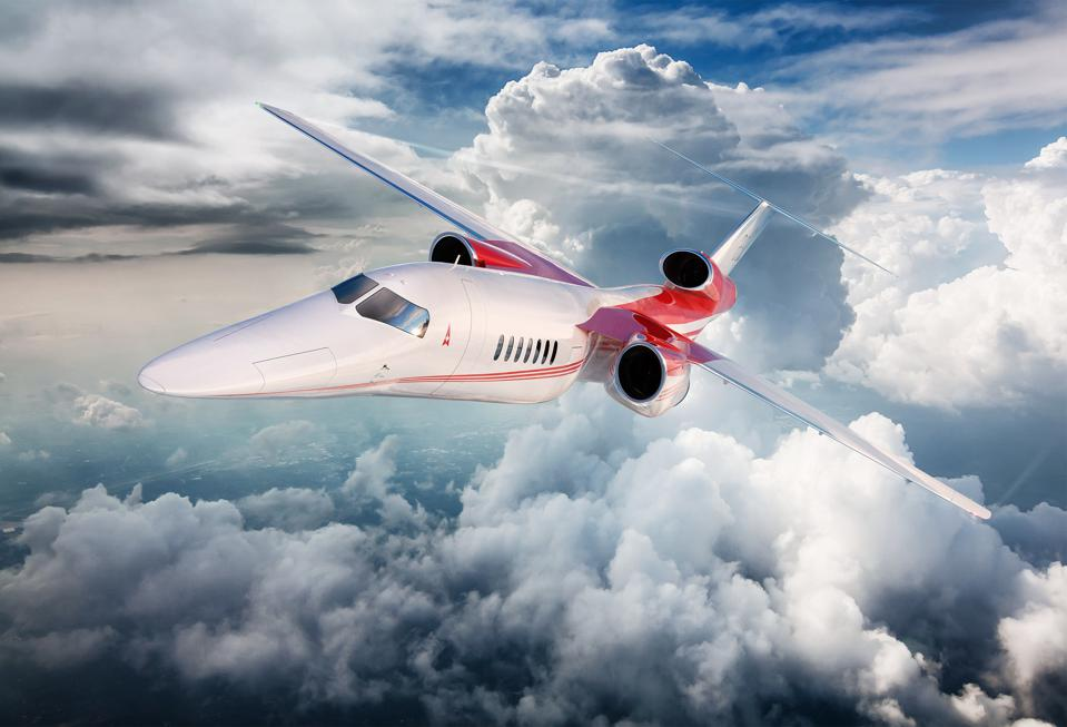 An illustration of Aerion's planned supersonic business jet.