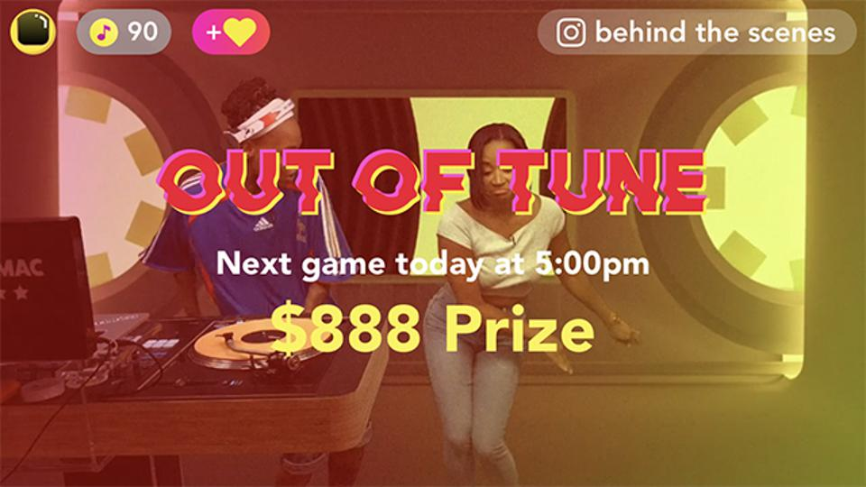 Players compete for a share of a cash prize—assuming they can correctly name 10 pop songs performed slightly out of tune.