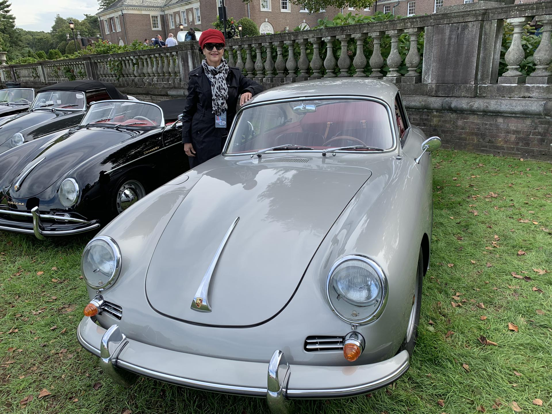 Road Warrior: Pamela Brundage with her 1962 Porsche 356B S90 Coupe after driving it from Chicago to New York for an auto show.