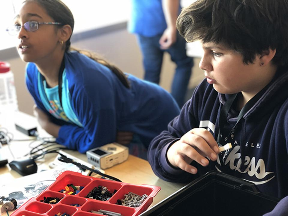 At Oracle Code 4 Kids, some students get their first exposure to programming.