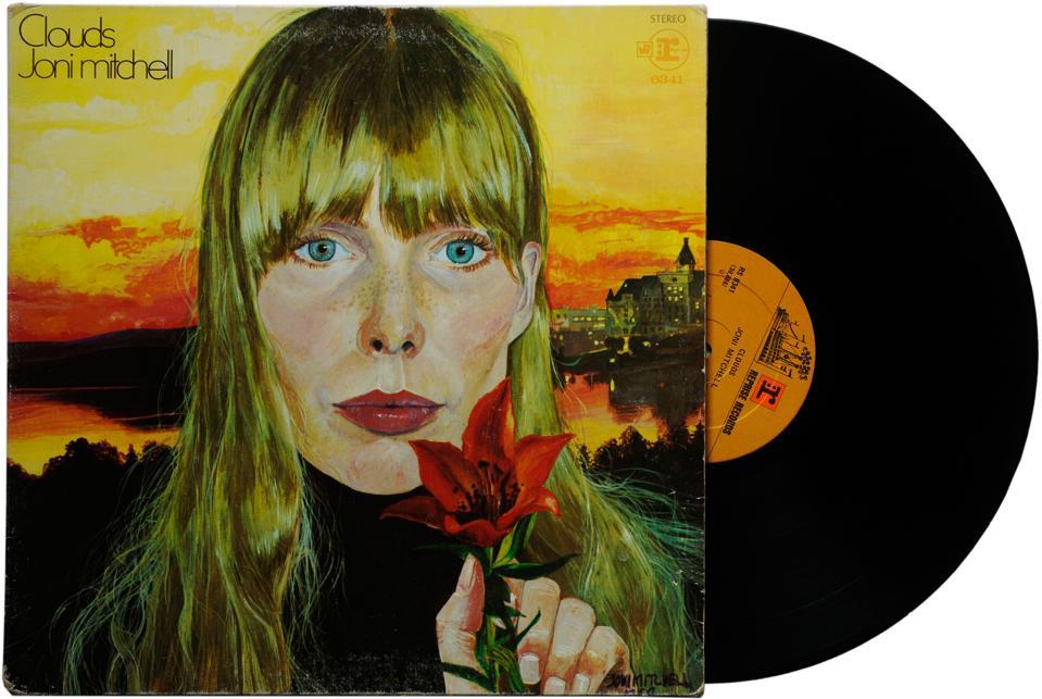 "Joni Mitchell's album ""Clouds,"" 1969."