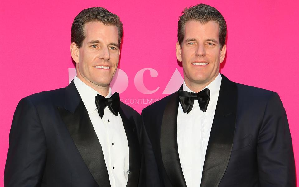 Cameron Winklevoss and Tyler Winklevoss in Los Angeles, California, 2017.