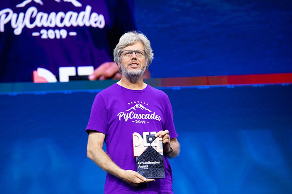 Python creator Guido van Rossum recently received a Groundbreaker Award, presented by Oracle at its Code One conference in San Francisco.