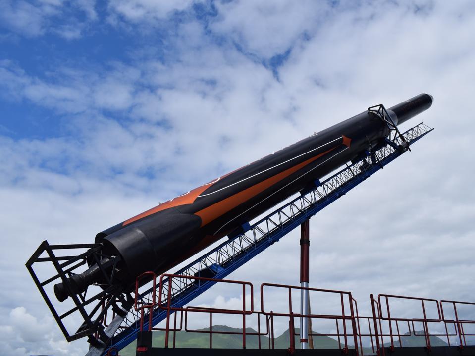 A Vector rocket at its launch site in Alaska.