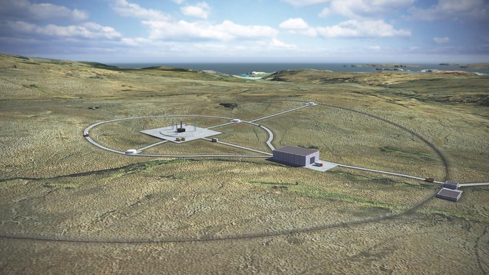 Artist impression of Sutherland Spaceport that is to be built in Scotland.