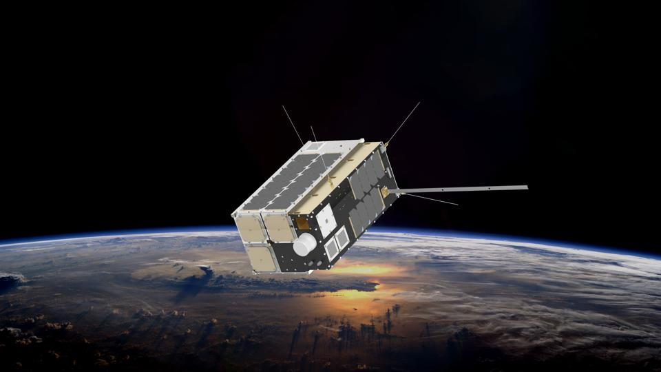 Rendering of Pathfinder Satellite in Orbit