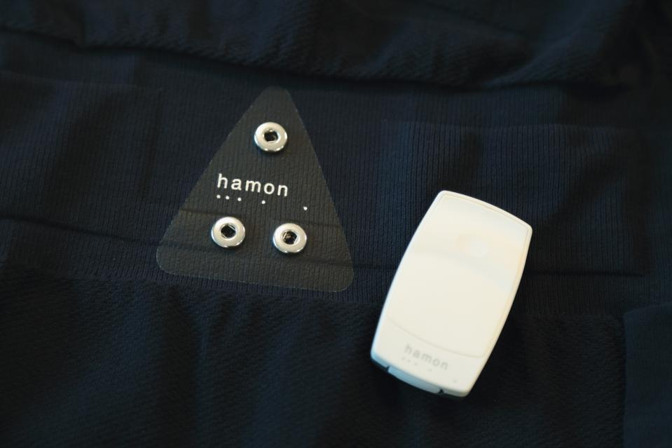 Mitsufuji produces wearable sensors under its hamon brand that can monitor biometric information such as breathing rate and heartrate.